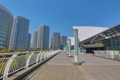 The walkway at Pacifico Yokohama Royalty Free Stock Photo