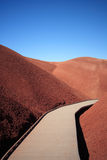 Walkway through the Painted Hills. Boardwalk through the Painted Hills in the John Day Fossil Beds National Monument In eastern Oregon Stock Photo