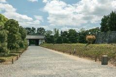 Walkway between palace walls of Nijo Castle in Kyoto. Stock Photography