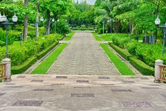 Walkway in park Royalty Free Stock Photos