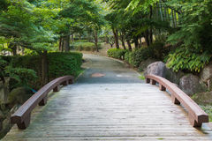 Walkway in the park. Connect with woodbridge royalty free stock photos