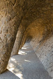Walkway in Park Guell, Barcelona Stock Photo