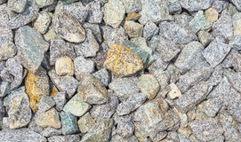 Walkway paved with rocks. Walkway in a public park paved with colorful rocks Royalty Free Stock Photo