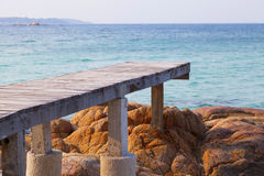 Walkway, Pier by the beach Stock Image