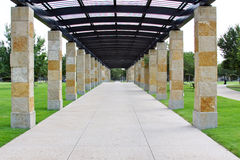Walkway between Pillars Royalty Free Stock Photography