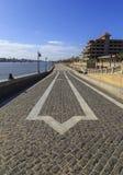 Walkway at Ras El Bar,Damiett,Egypt. Walkway at Ras El Bar,Ras El Bar which means head of land, is a resort city in the Governorate of Damietta, in northeast Stock Photo