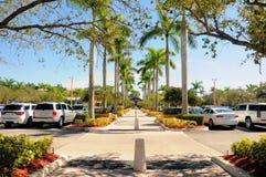 Walkway in retail strip mall, Florida (horizontal) Stock Photography