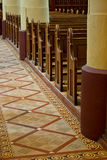 The walkway in the roman catholic church in Gendringen Holland Royalty Free Stock Photo