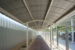 Walkway with roof. The walkway cover by roof Royalty Free Stock Image