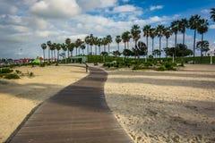 Walkway through sand at Shoreline Aquatic Park  Stock Photography