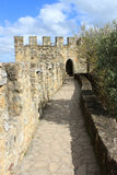 Walkway in Sao Jorge castle, Lisbon, Portugal Royalty Free Stock Photography