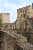 Walkway in Sao Jorge castle, Lisbon, Portugal Royalty Free Stock Photos
