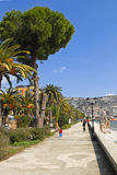 Walkway in saranda Royalty Free Stock Photo