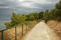Walkway by the sea Stock Image