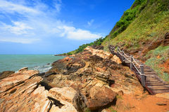 Walkway beside the sea, sight seeing way Royalty Free Stock Photography