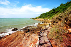 Walkway beside the sea, sight seeing way Stock Images