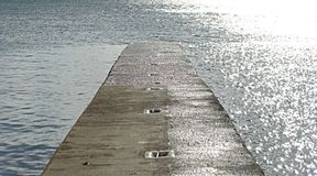 Walkway into the Sea. Walkway into the sea, St Michael`s Mount in Cornwall, UK Royalty Free Stock Photography