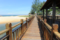Walkway at seaside Royalty Free Stock Photo