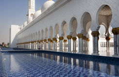 Walkway Sheikh Zayad Mosque Stock Photo