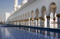 Walkway Sheikh Zayad Mosque Stock Photo