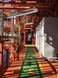 Walkway. A shot of a walkway taken at an offshore installation Royalty Free Stock Photography