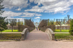 Walkway in the spring park Royalty Free Stock Images