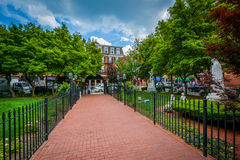 Walkway at St. Leonard`s Church, in the North End of Boston, Mas. Sachusetts Royalty Free Stock Photography