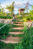 Walkway stair natural decorative in garden Stock Photography