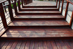 Walkway staircase Wood Stock Photography