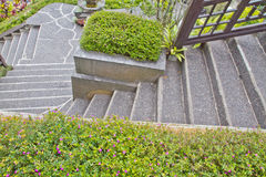 Walkway with stairs Stock Photo