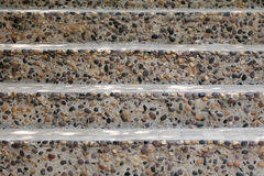 Walkway of stairs built of stone and concrete in the front view. Royalty Free Stock Photography