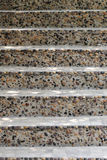 Walkway of stairs built of stone and concrete in the front view. Royalty Free Stock Image