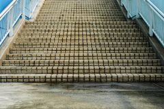 Walkway stairs outdoor and background photo stock Royalty Free Stock Photos