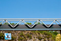 Walkway steel. With protective railing Royalty Free Stock Photos