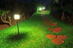 Walkway Stones on a grass pathway Royalty Free Stock Photography