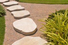 Walkway stones Royalty Free Stock Photo