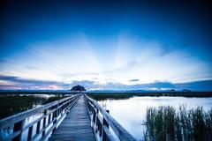 Walkway in sunset mood Stock Image