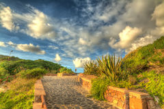 Walkway at sunset Royalty Free Stock Photography