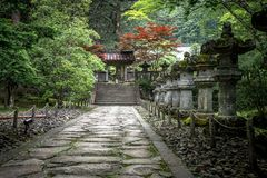 Pathway at temple royalty free stock photo