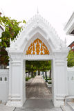 Walkway in thai temple. The walkway in thai temple Stock Photography