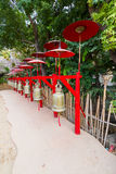 Walkway in thai temple Royalty Free Stock Photo