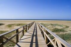 Walkway till stranden Fotografering för Bildbyråer
