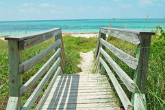 Walkway to beach Stock Photography