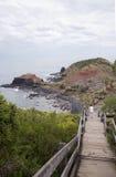Walkway to Beach, Cape Schanck, Mornington Peninsula, Australia. Stock Image