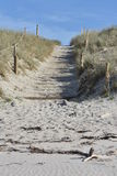 Walkway to beach over sand dune Royalty Free Stock Images