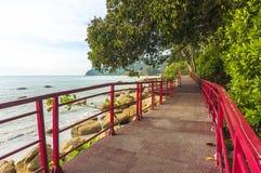 Walkway to beach. Pedestrian walkway and track to beach Royalty Free Stock Image