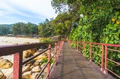 Walkway to beach. Pedestrian walkway and track to beach Stock Photography