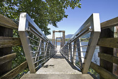 Walkway to Boat Moorage Royalty Free Stock Photo