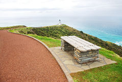Walkway to Cape Reigna lighthouse Stock Images