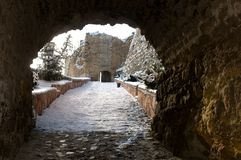 Walkway to the castle Stock Photography